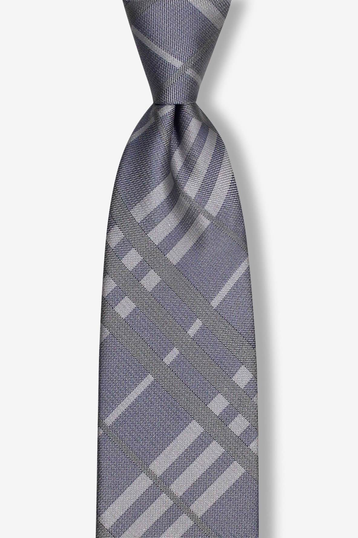 Light Purple and Gray Plaid Pre-tied Tie, Tie, GoTie