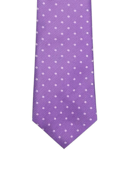 Light Purple with Silver Dots Skinny Pre-tied Tie, Tie, GoTie