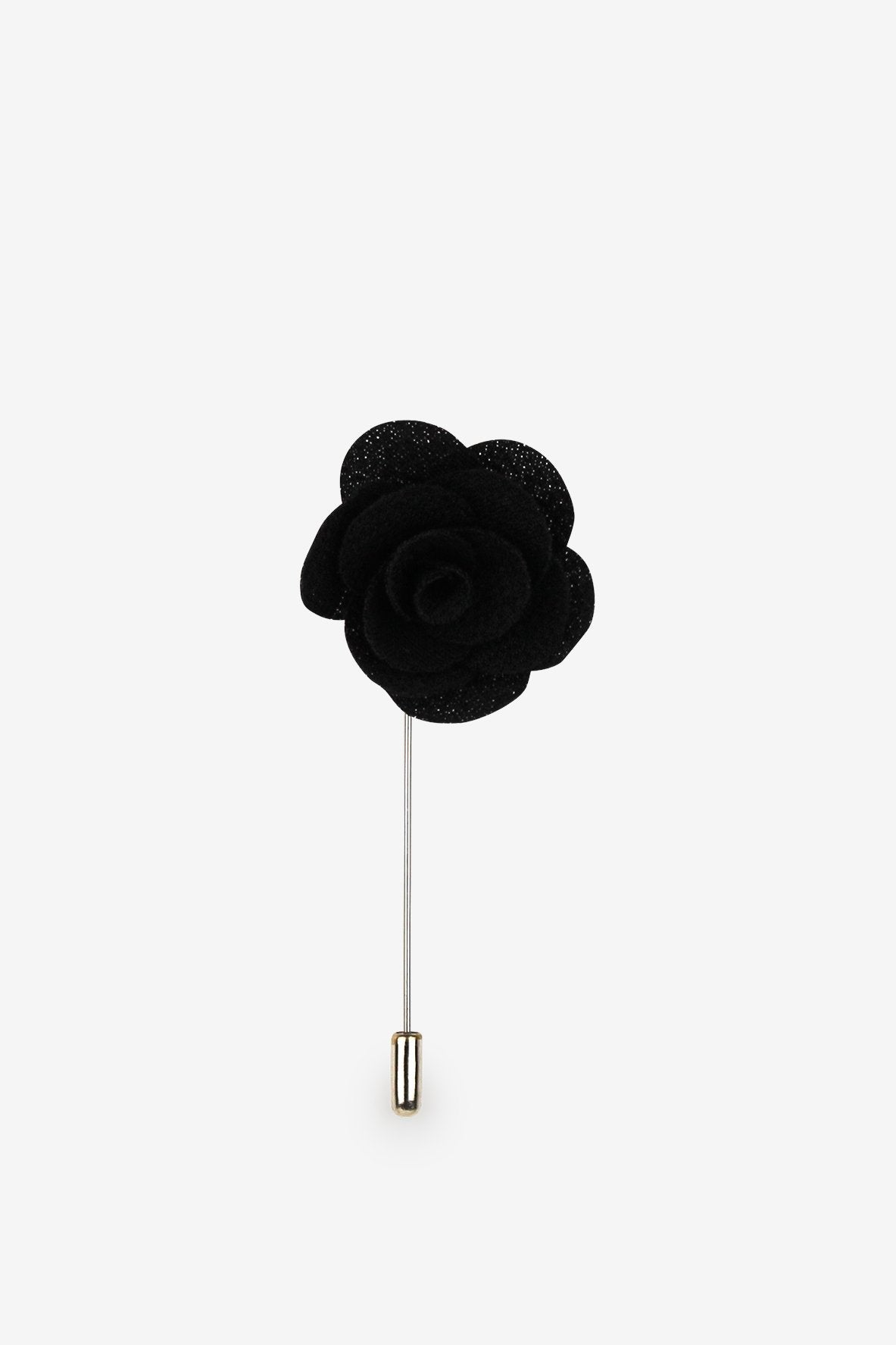 Man In Black Flower Lapel Pin