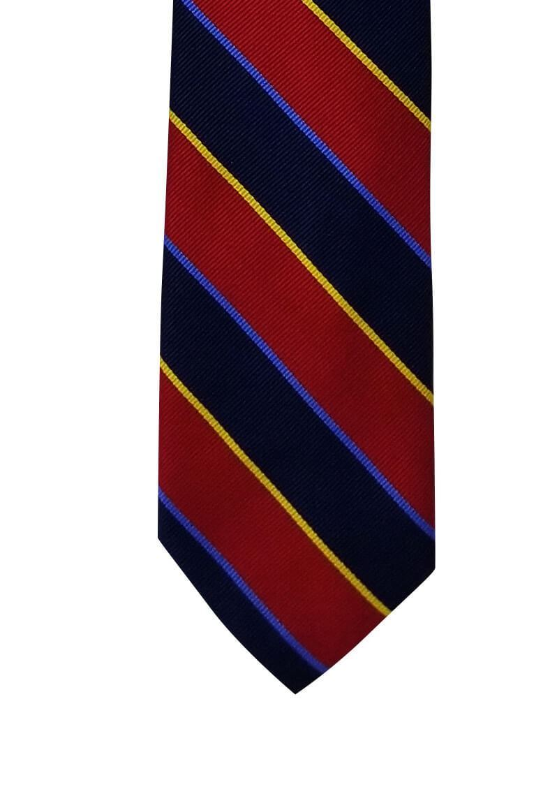 Maroon and Navy Multi-Striped Pre-tied Tie, Tie, GoTie