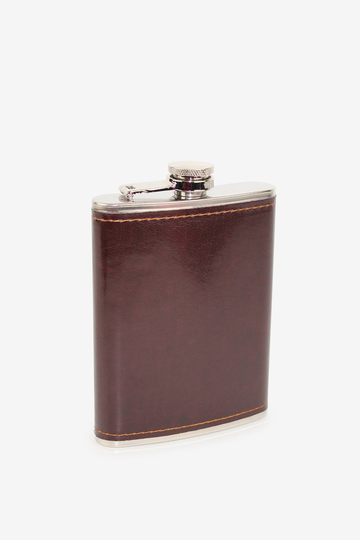 Old School Brown Leather Flask