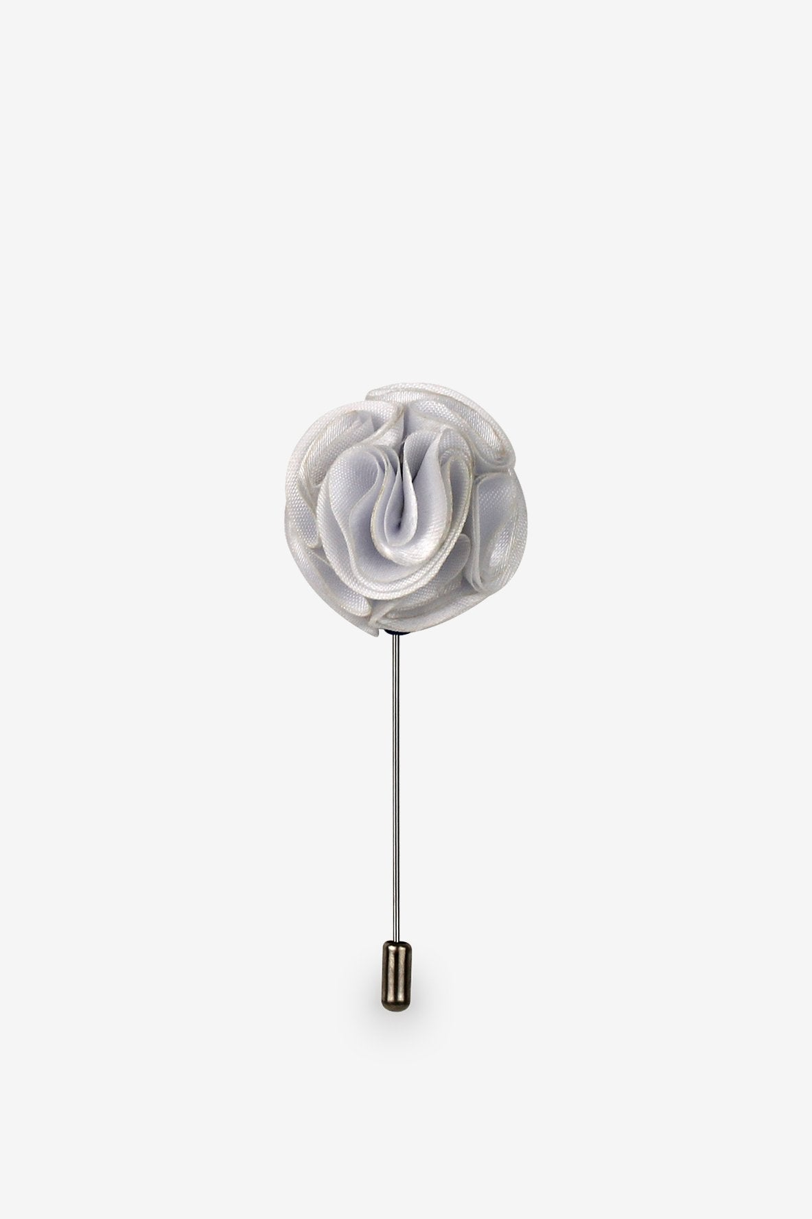 Perfectly White Piped Flower Lapel Pin