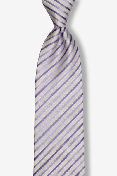 Purple Pearl Multi-Striped Pre-tied Tie, Tie, GoTie