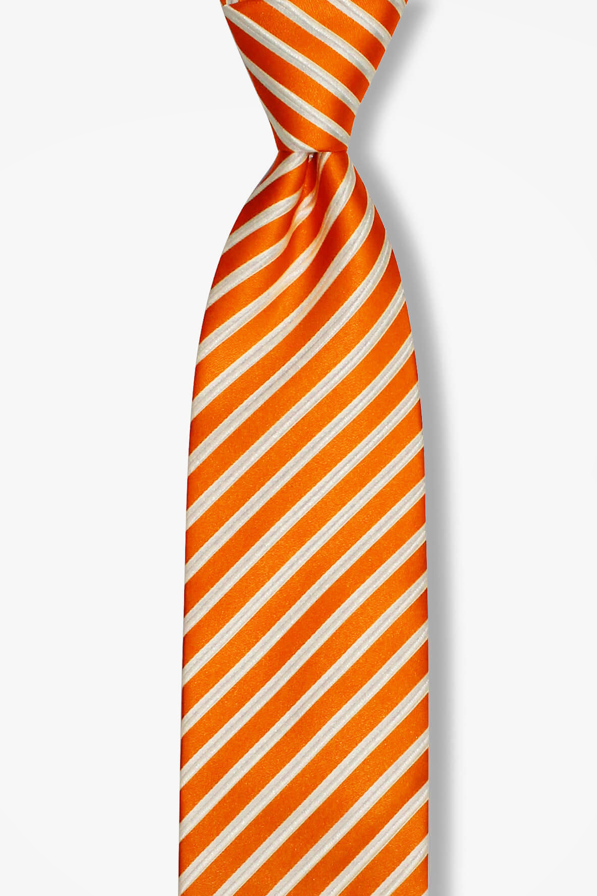 Racecar Orange Striped Pre-tied Tie, Tie, GoTie