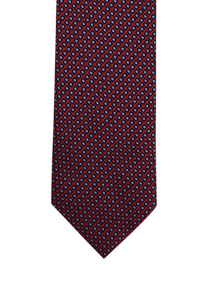 Red Blue Geometric Circled Pre-tied Tie, Tie, GoTie