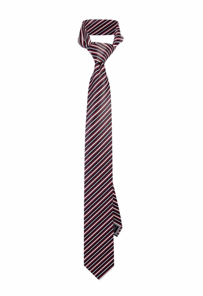 Red Racing Striped Pre-tied Tie, Tie, GoTie