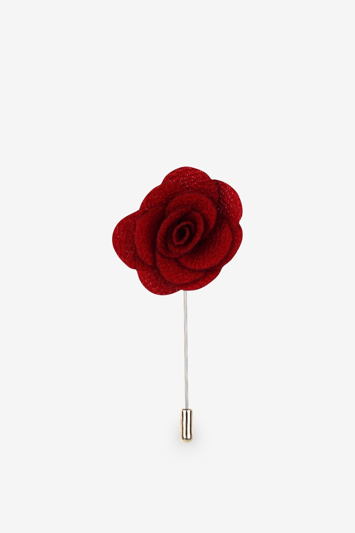 Red Rose Flower Lapel Pin