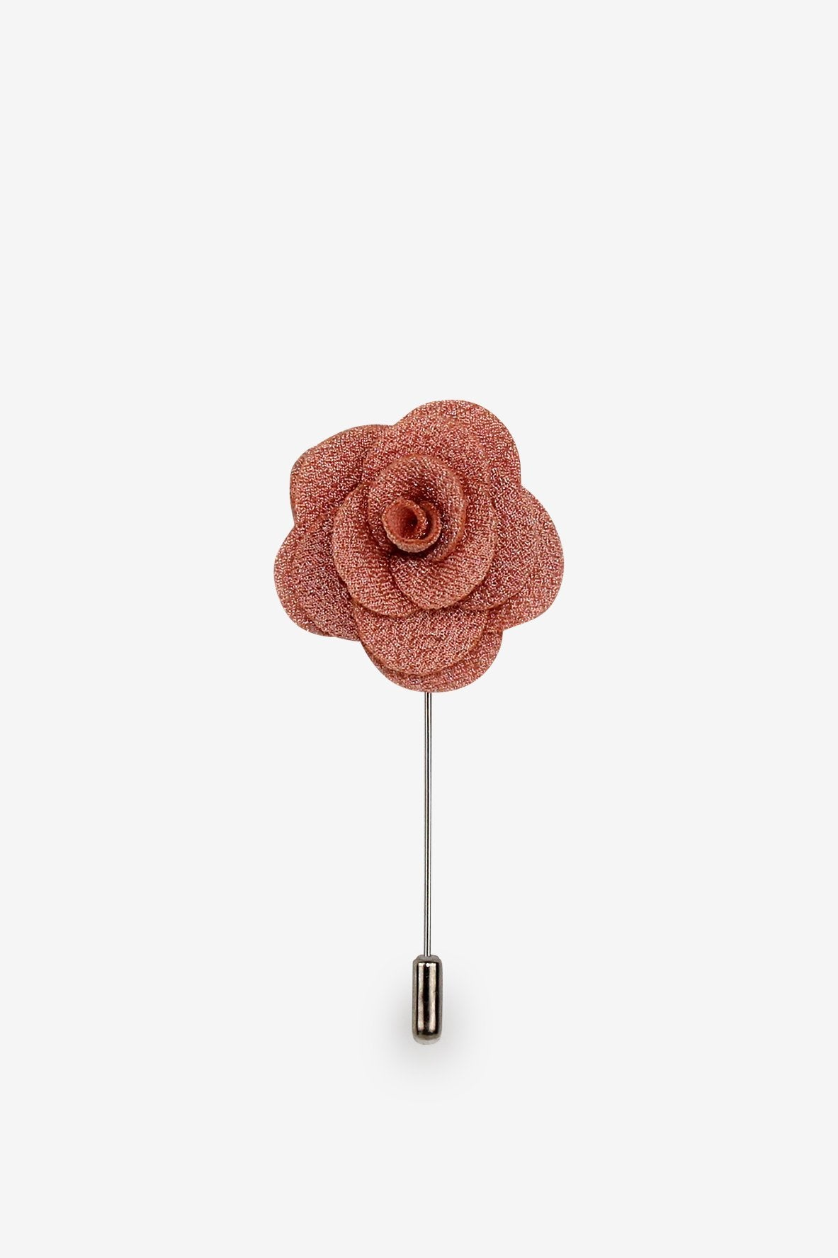 Rose Gold Flower Lapel Pin