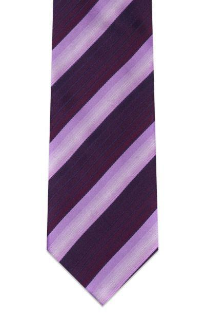 Royal Purple Striped Pre-tied Tie, Tie, GoTie
