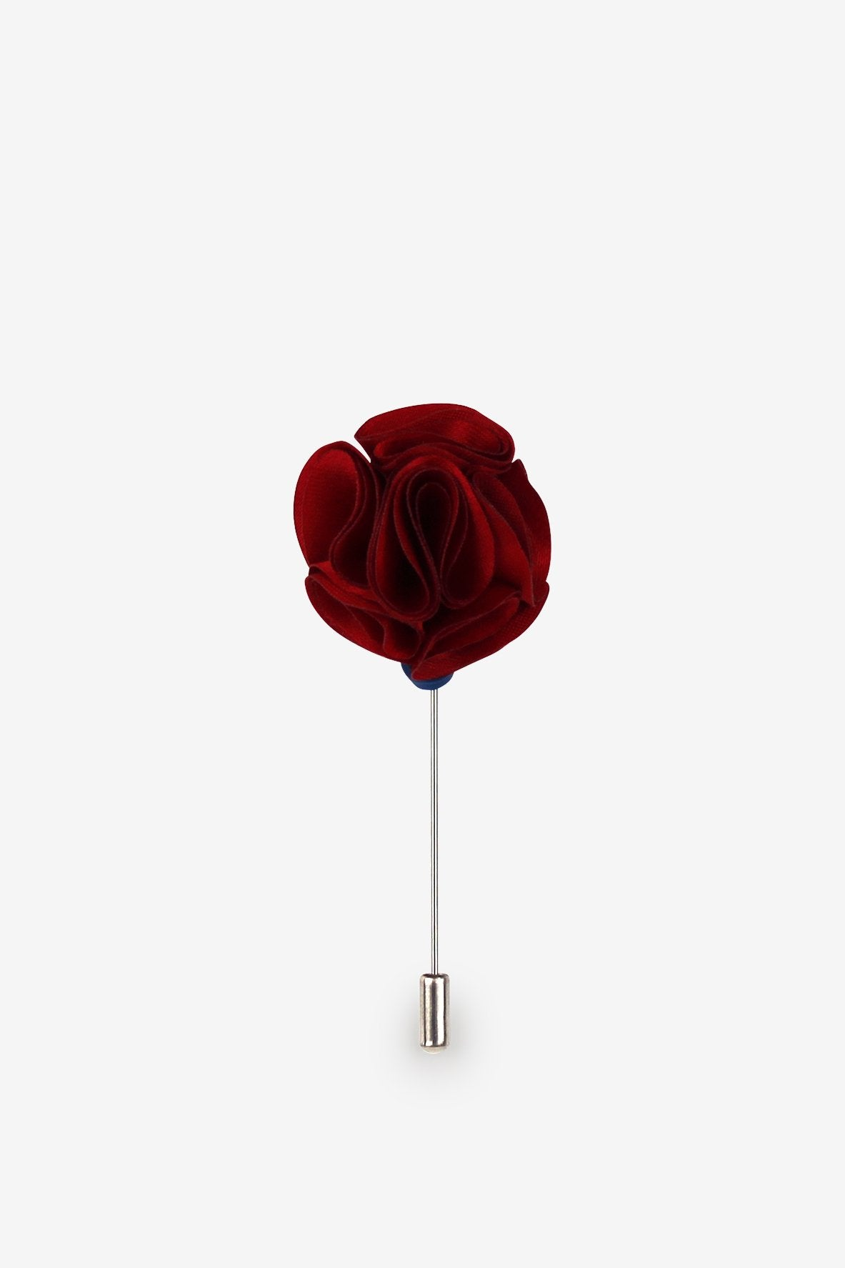 Scarlet Red Flower Lapel Pin