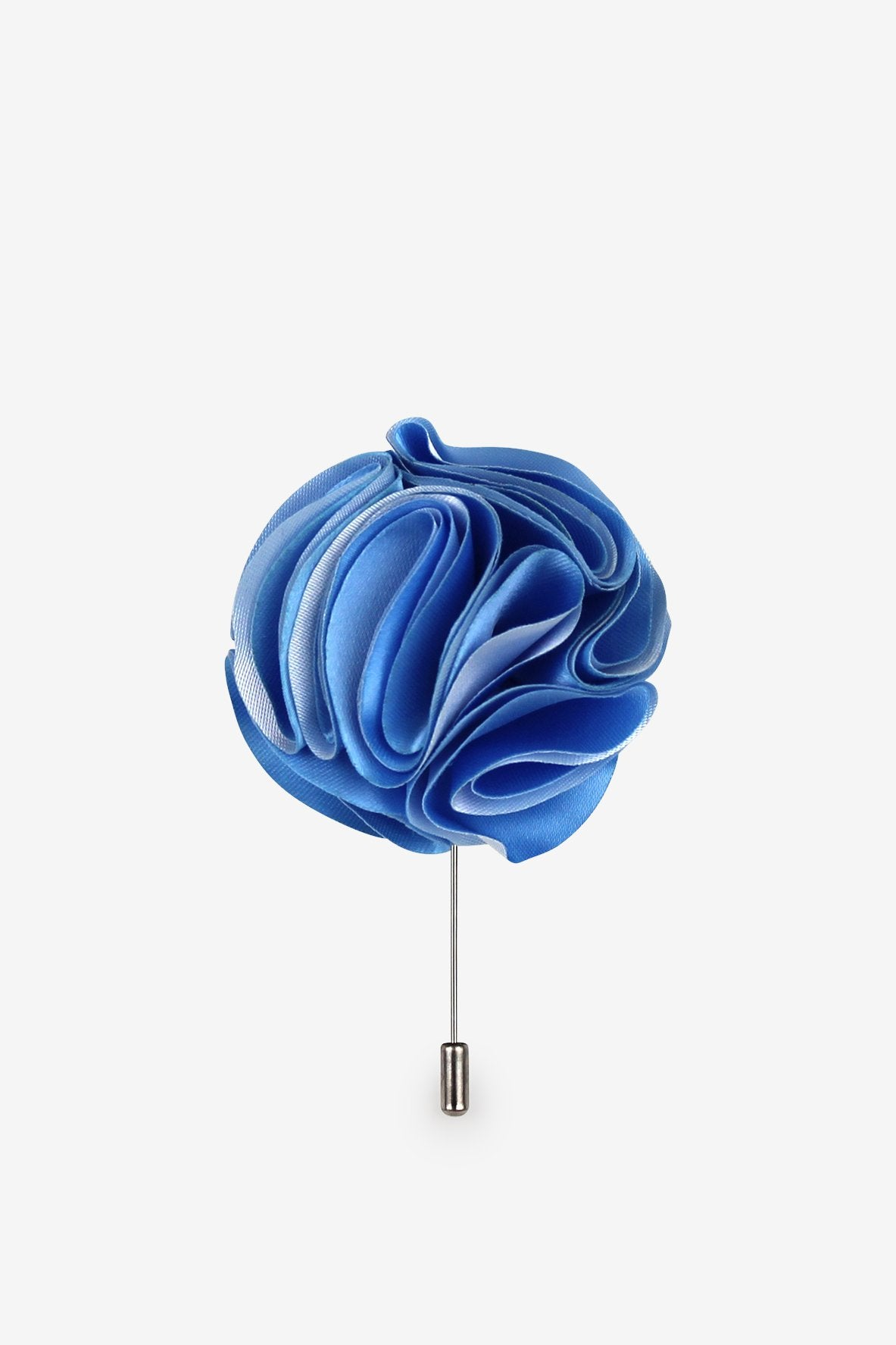 Shades of Blue Flower Lapel Pin