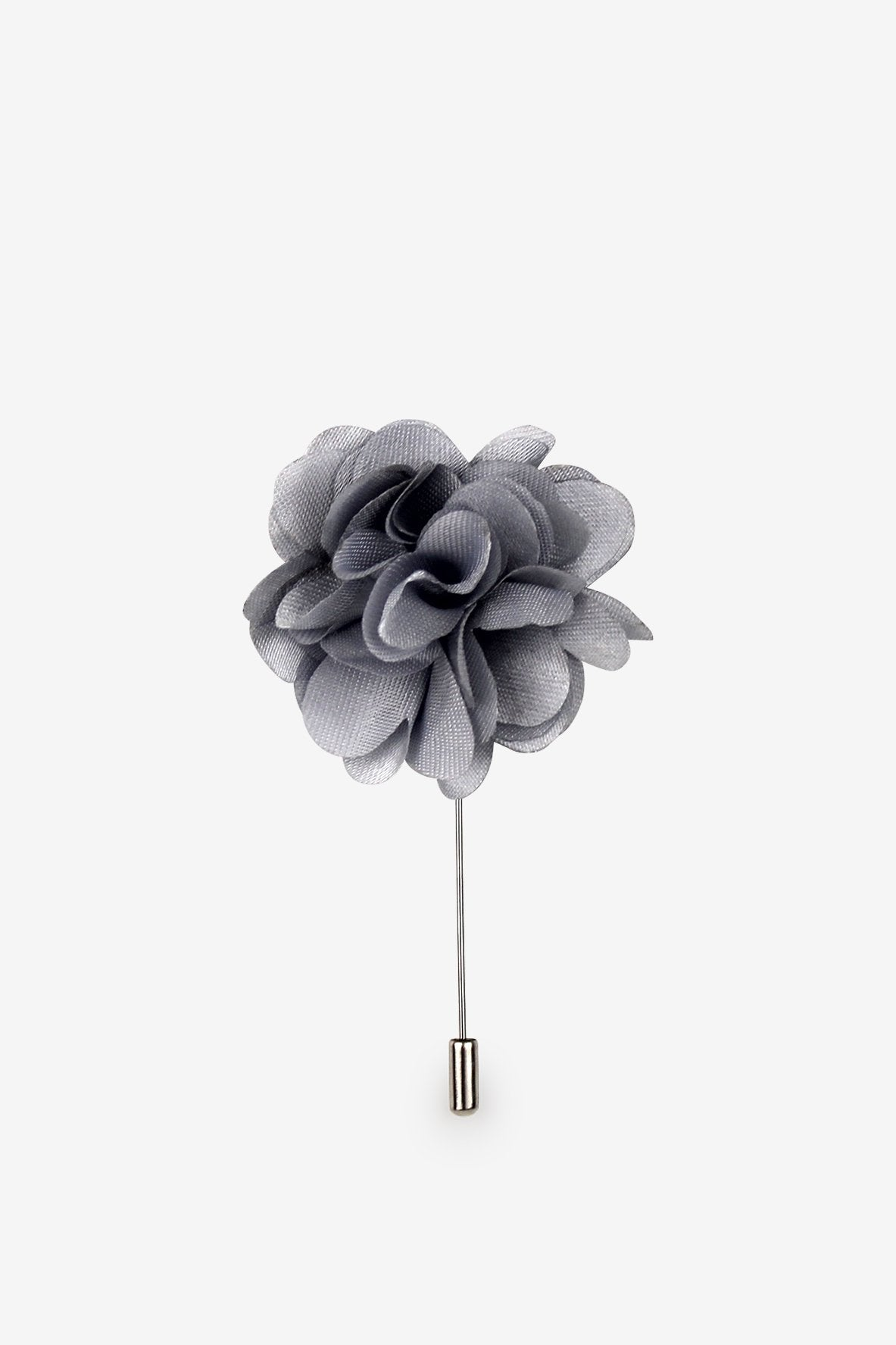 Silver Hearts Flower Lapel Pin