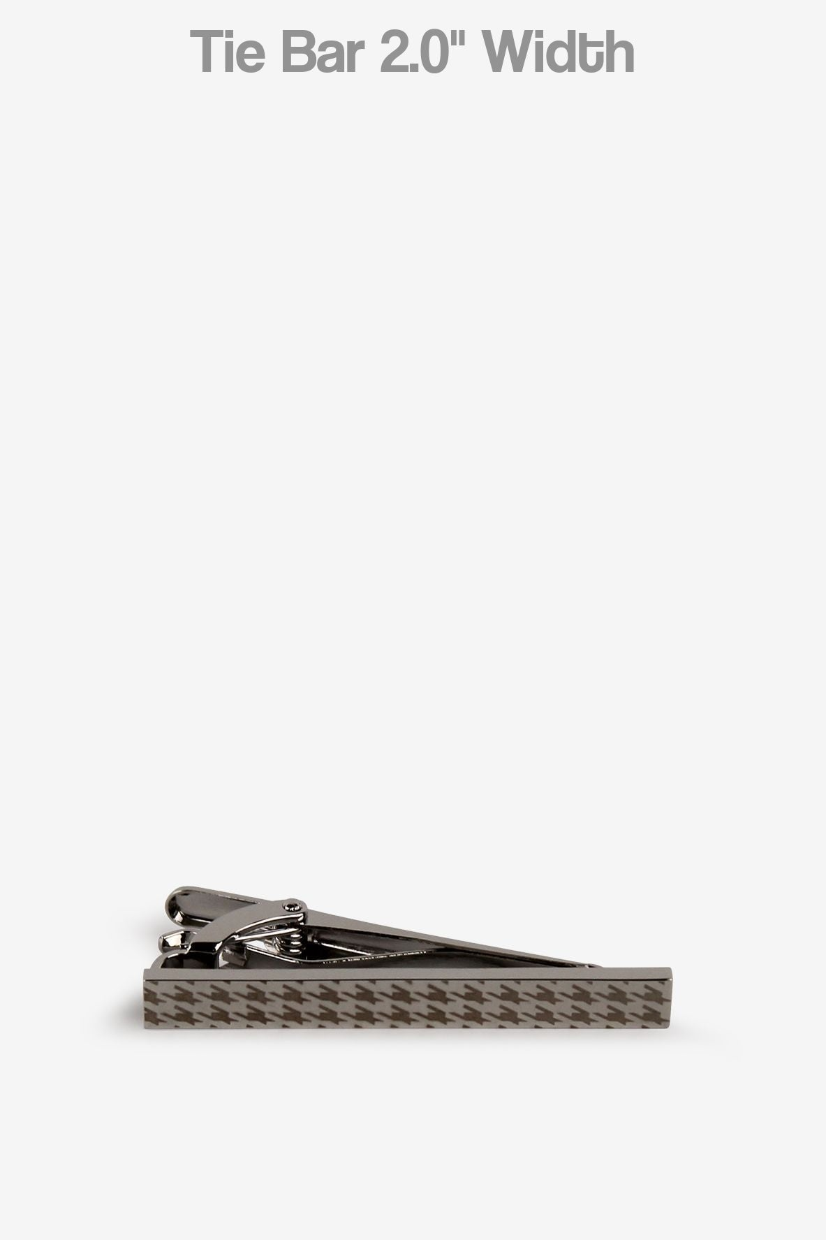 Silver Houndstooth Tie Bar