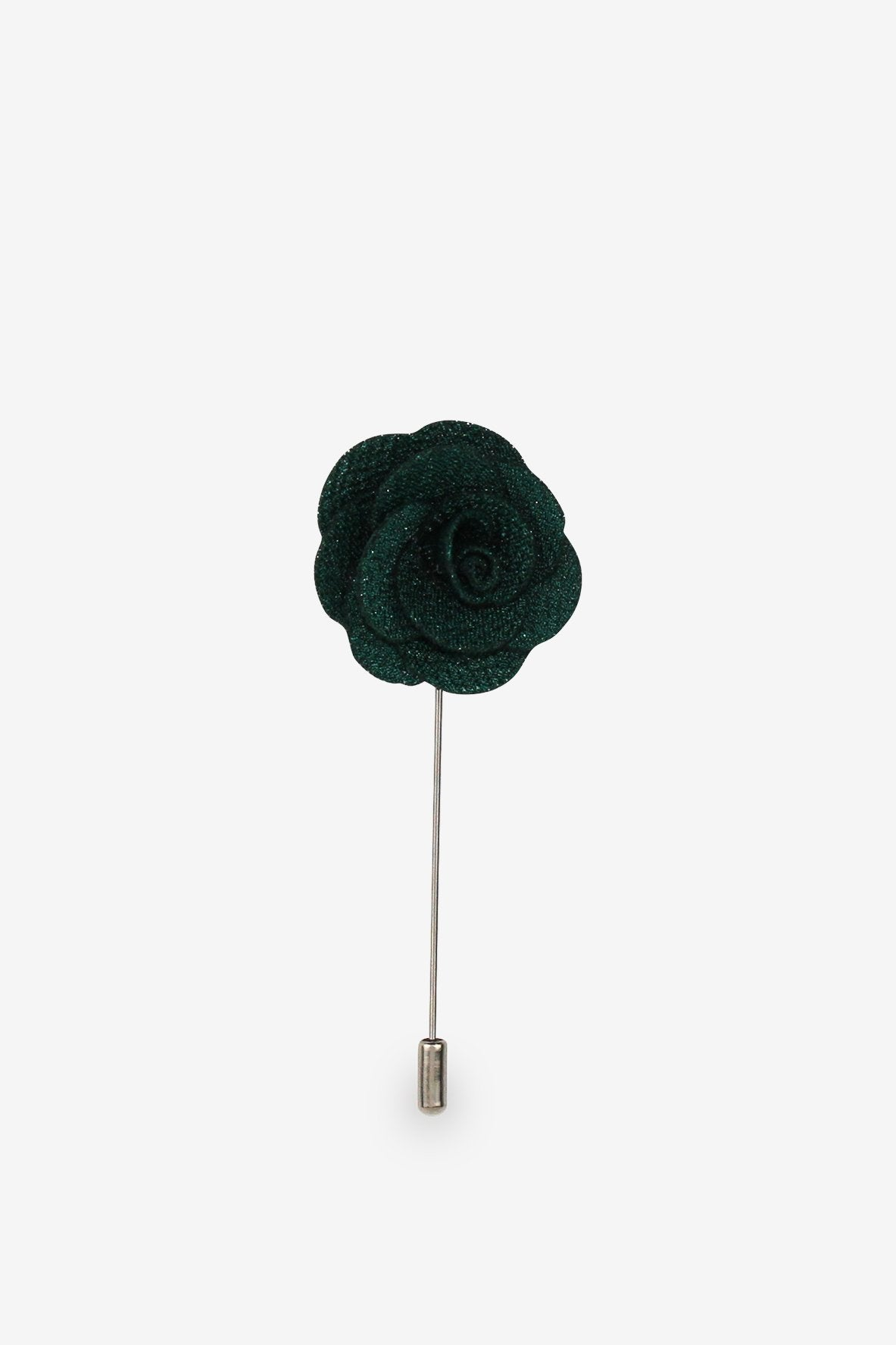 The Darkest Green Flower Lapel Pin
