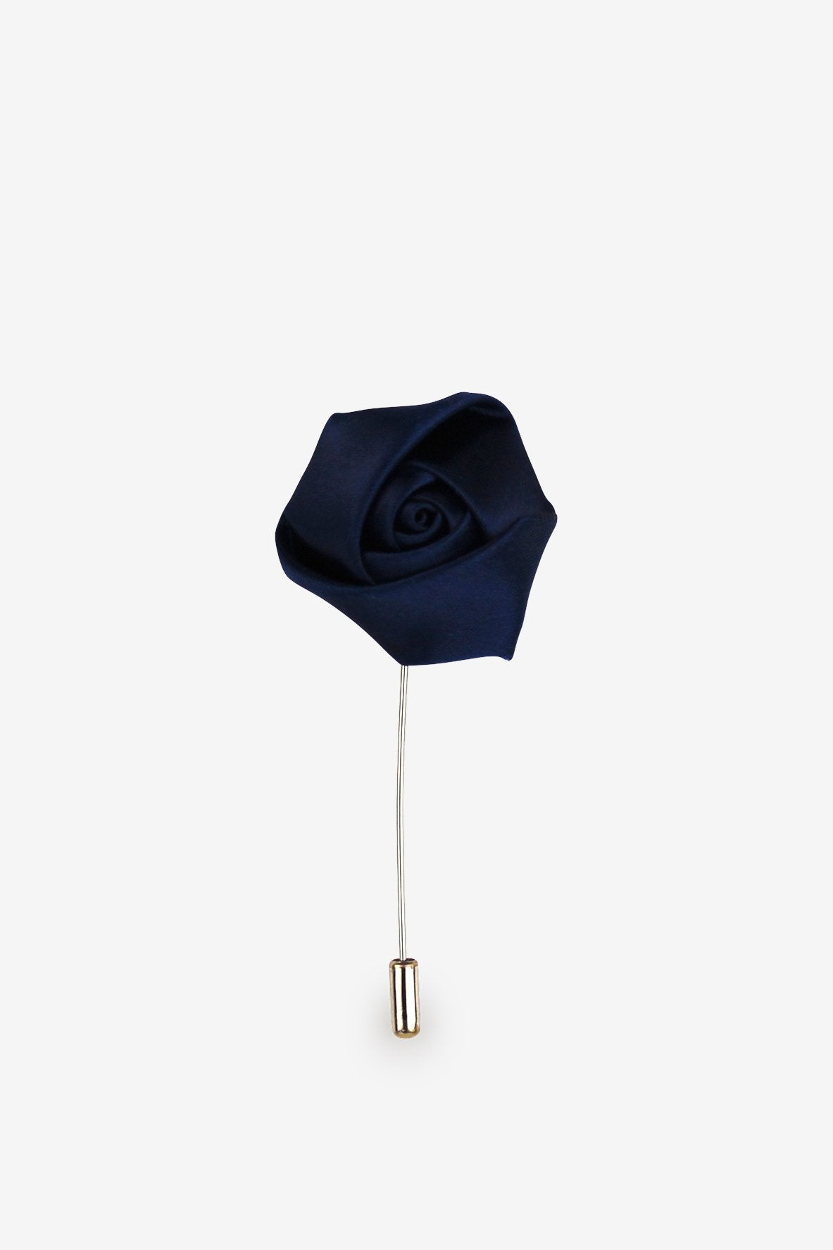 True Navy Flower Lapel Pin