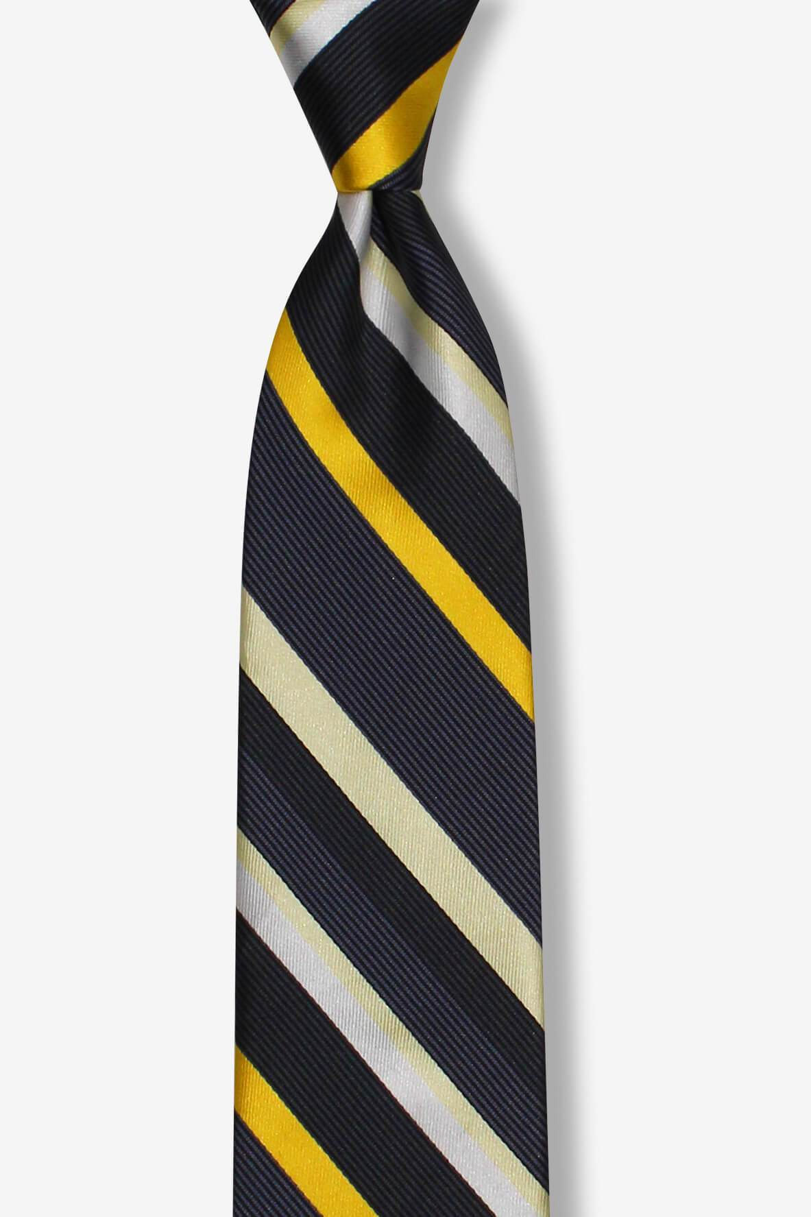 Yellow Multi-Striped Skinny Pre-tied Tie, Tie, GoTie