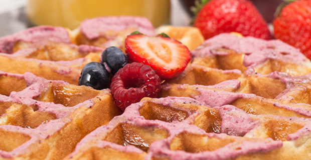 berry infused buttercream waffles recipe