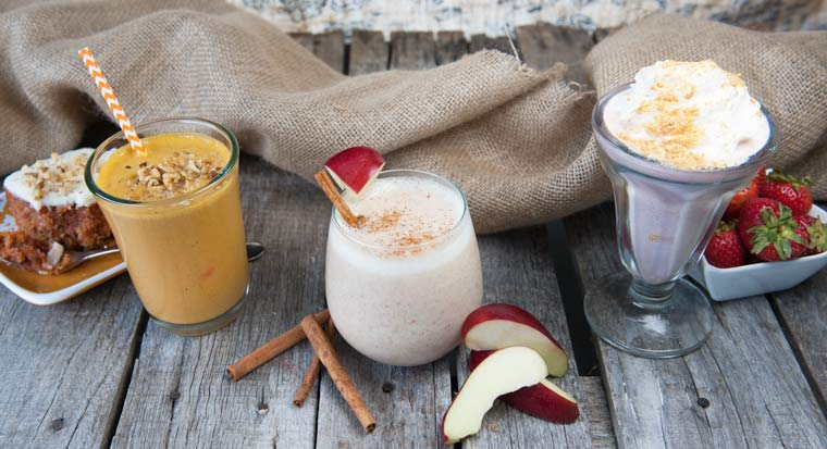 3 dessert smoothies