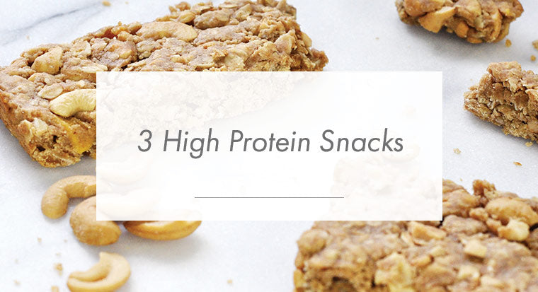 3 high protein snacks
