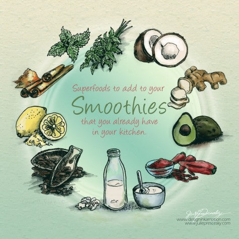 healthy additions to smoothies