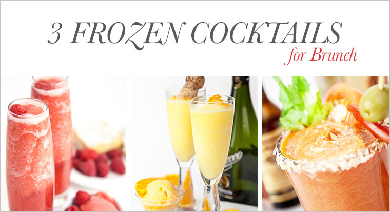 3 frozen brunch cocktails