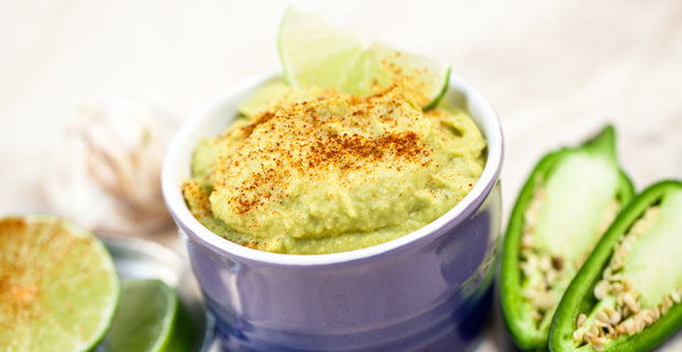 roasted green chili and lime hummus recipe
