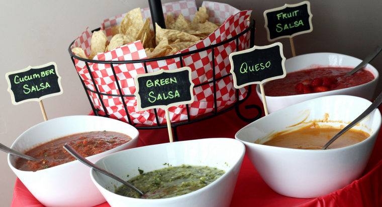 salsa bar - four salsa recipes