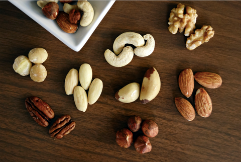 Picture of Various Nuts on Table