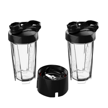 2-Pack Blendtec GO Travel Cups with 2 Lids & a Micronizer Base