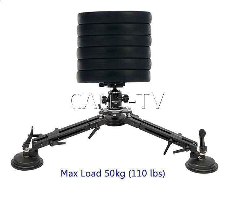 CAME-TV Video Suction Cup Car Mount Shooting Max 110 Lbs Load 50kg