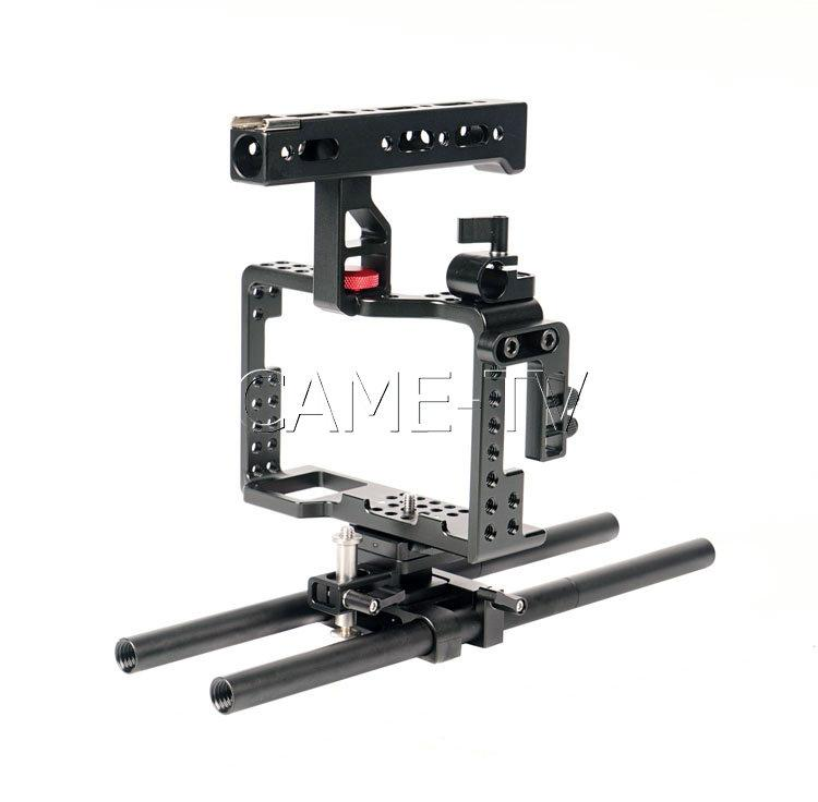 For Sony A7RII CAME-TV Camera Rig Mattebox Shoulder Support Kit