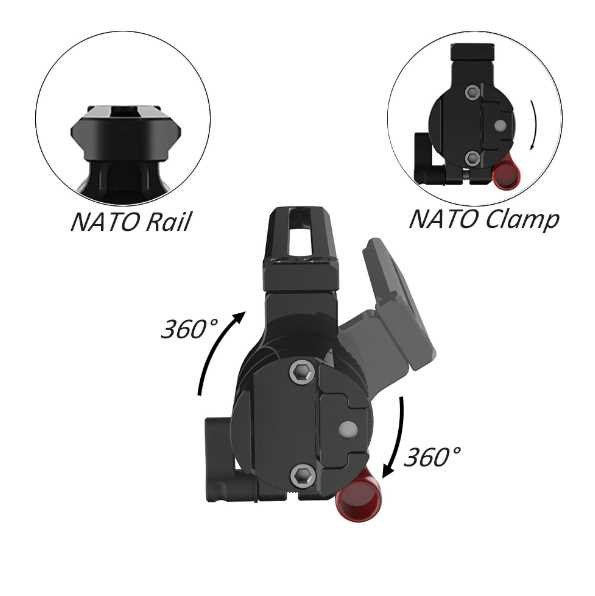 SmallRig NATO Rail to NATO Clamp Adapter 2113