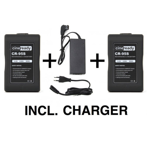 2x Cineready 95Wh V-Mount Battery incl. Charger