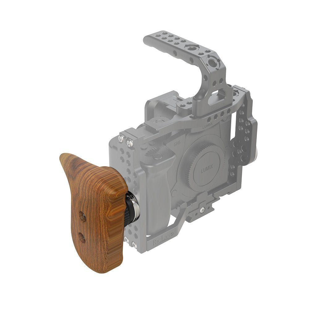RigLand Right Side Wooden Grip with Arri Rosette - 681