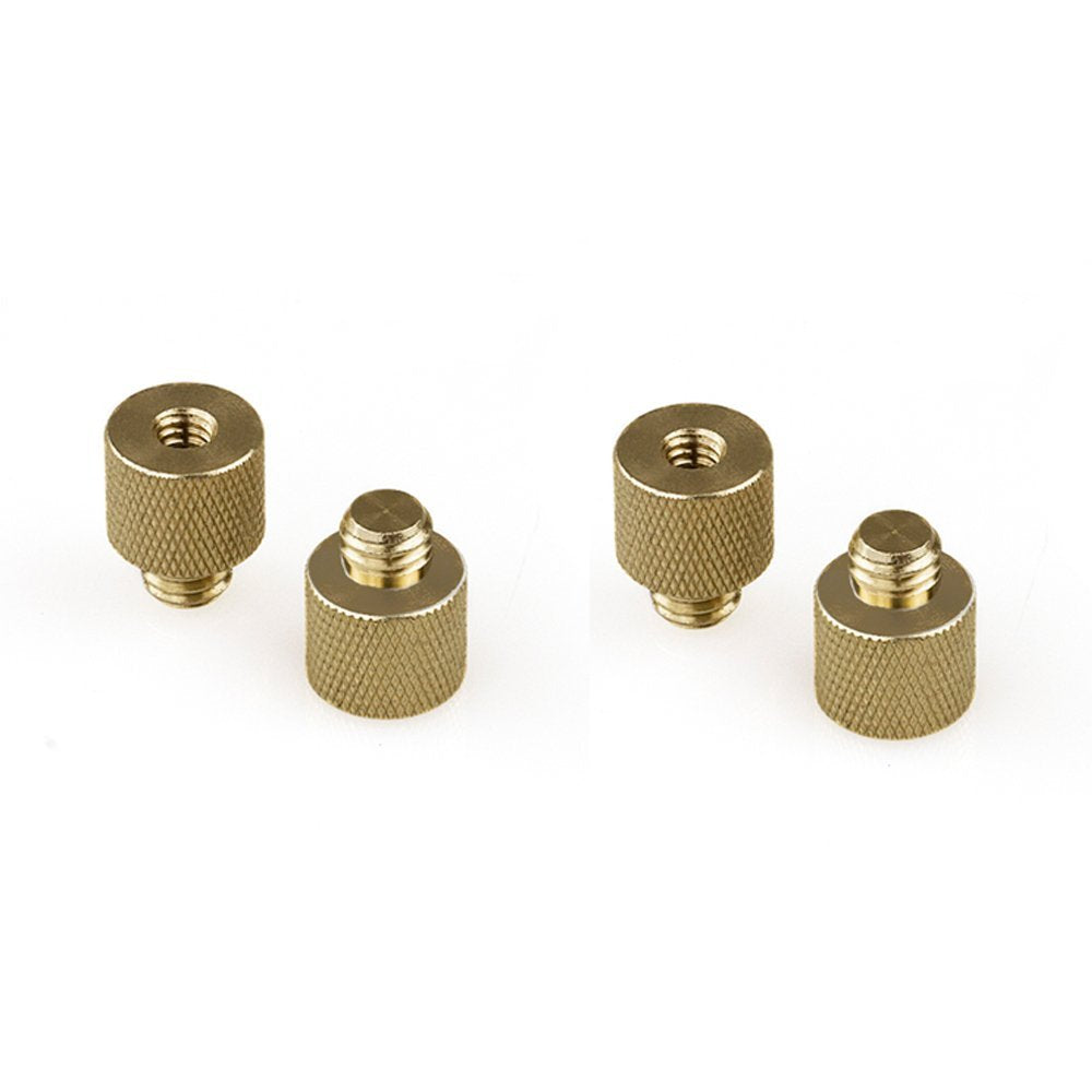 "RigLand 1/4""-20 Female to 3/8""-16 Male Tripod Thread Screw Adapter Brass (4-pack)-668"