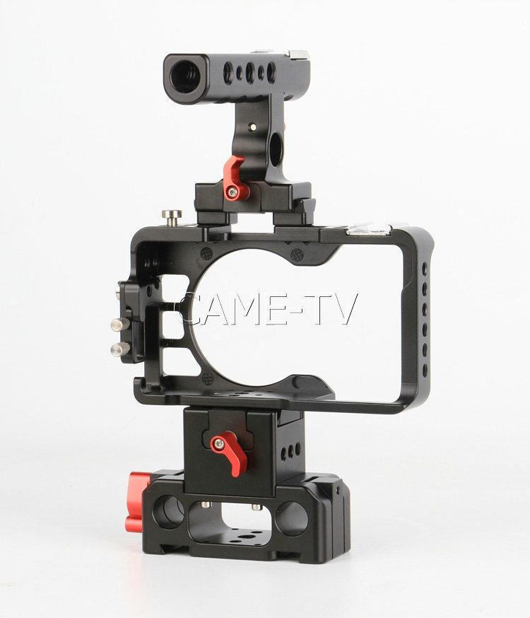 CAME-TV Rig For Sony A6300 / A6500 Camera With Handle Cage Baseplate