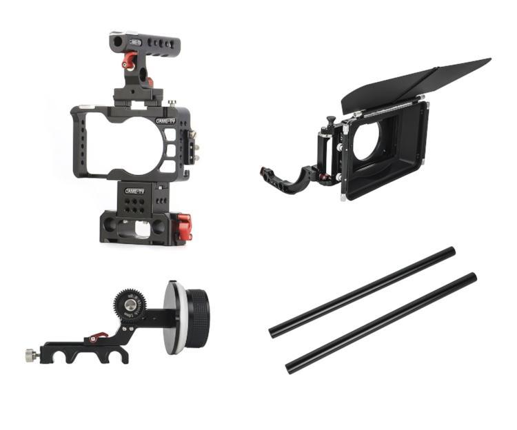 A6500-PACK CAME-TV Rig For Sony A6300 & A6500 Camera With Handle Cage Baseplate