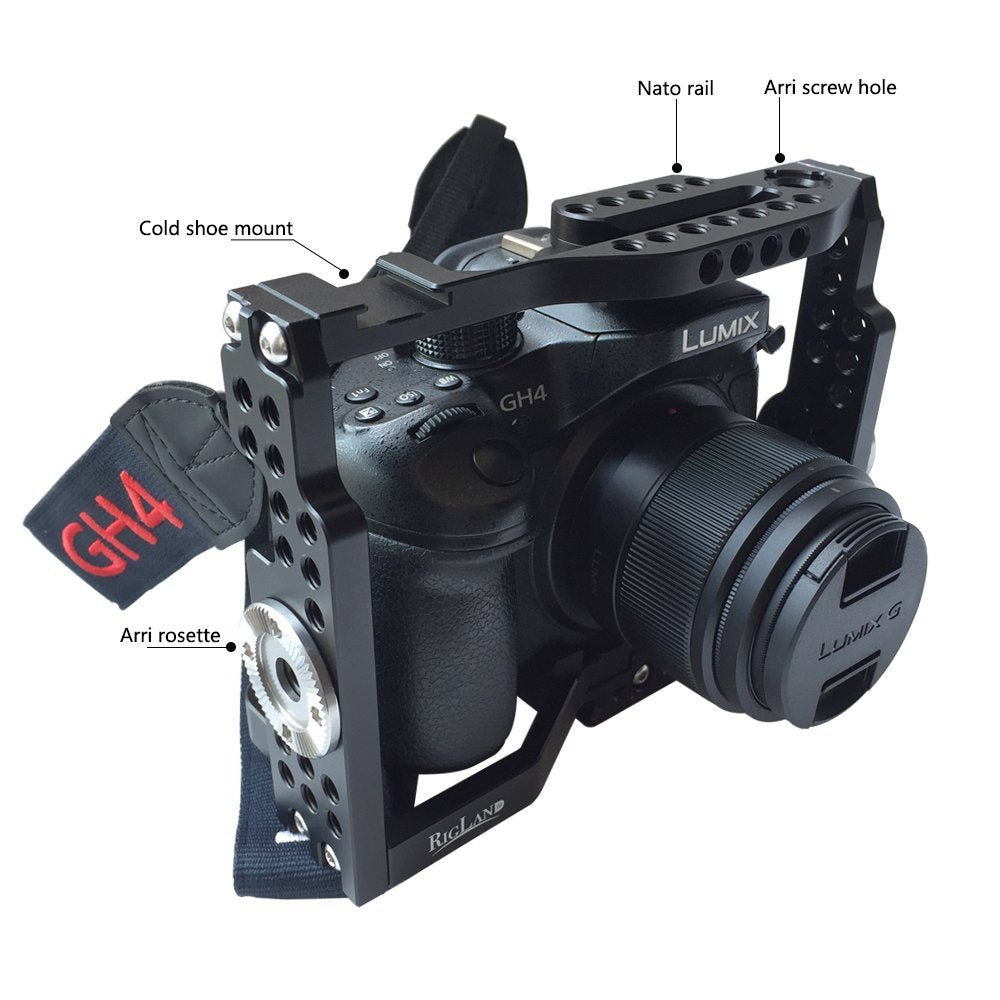 RigLand Camera Cage for Panasonic Lumix GH4 GH5 GH5s - 679