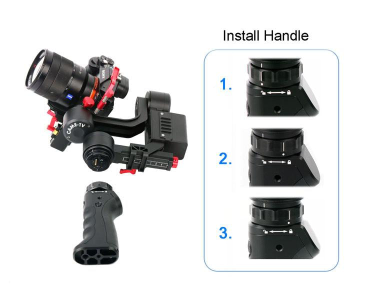 CAME-OPTIMUS 3 Axis Gimbal with handles payload 1.2kg