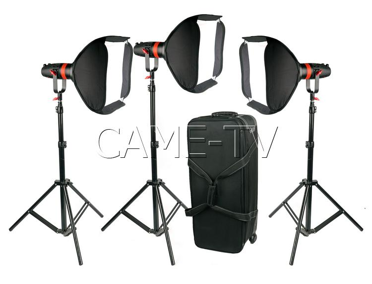 3 Pcs CAME-TV Boltzen 55w Fresnel Focusable LED Daylight Package