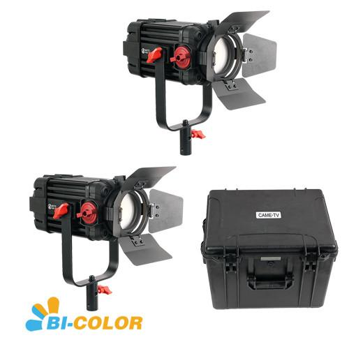2 Pcs CAME-TV Boltzen 100w Fresnel Focusable LED Bi-Color Kit
