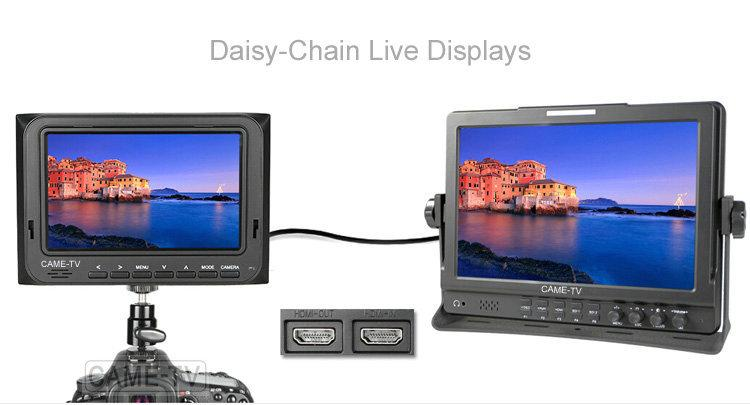 "CAME-TV 5"" 800*480 HDMI AV Field Monitor W/ Peaking Focus Assi"