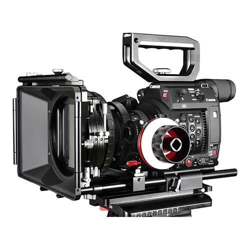 CAME-TV Top Handle and Base Plate Kit with Matte box Follow Focus for Canon EOS C200
