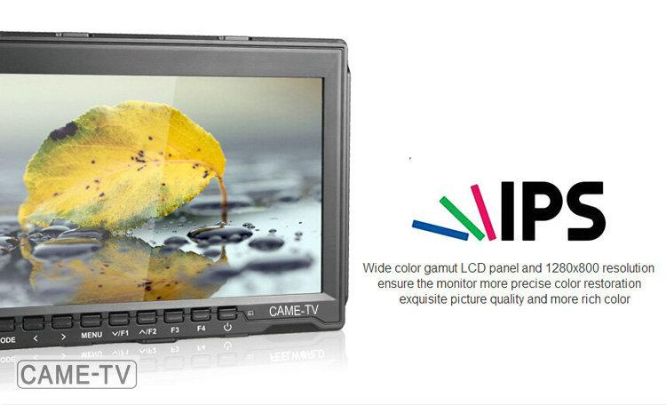 "CAME-TV 7"" Field Monitor with Peaking Focus Assist IPS 1280*800 HDMI"