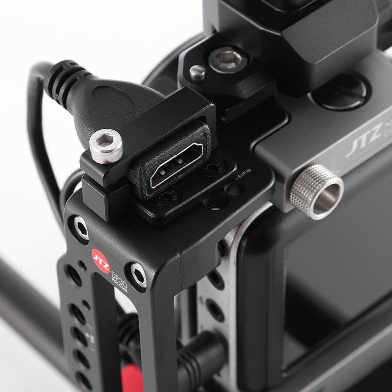 JTZ DP30 camera base plate + hand grip+shoulder support cage rig for BMPCC Blackmagic pocket cine camera