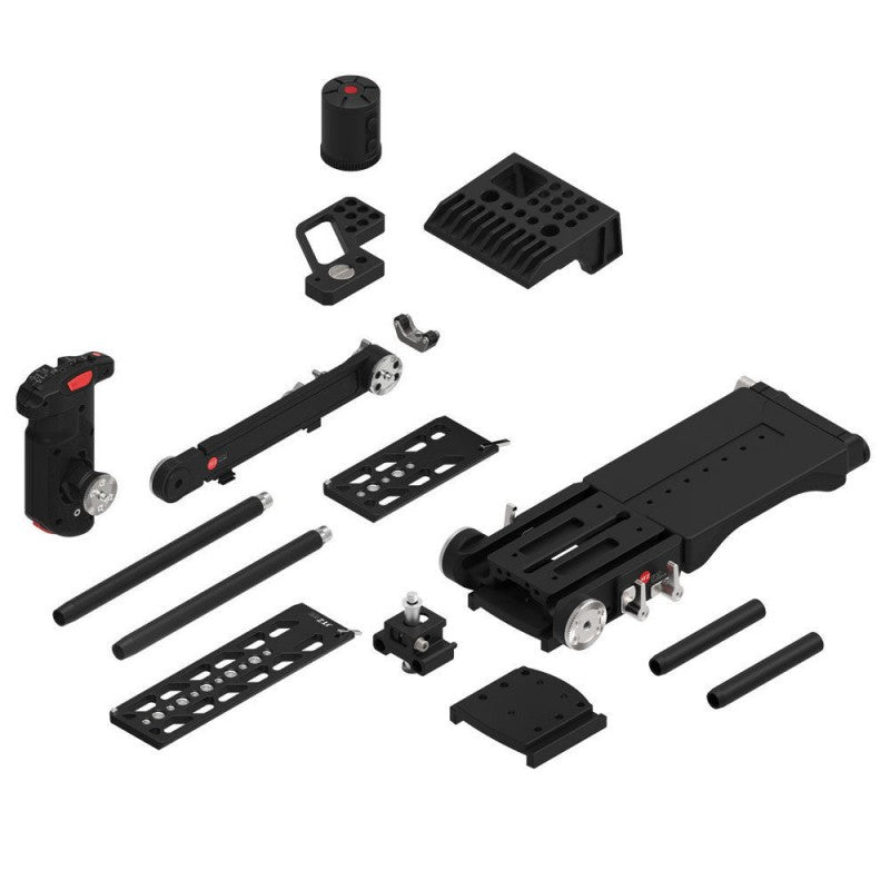 JTZ DP30 15mm rail base plate + hand grip+shoulder support rig for Sony FS7 PXW-FS7 with JTZlink hub