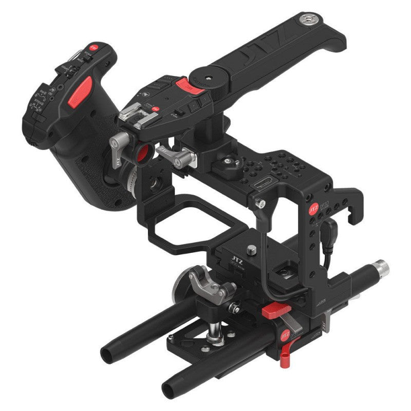 JTZ DP30 camera base plate+ hand grip+ shoulder support cage rig for Sony A7 A7II A7R A7RII A7S A7SII
