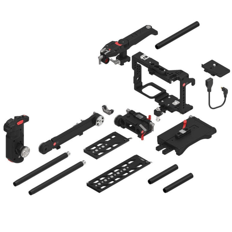 JTZ DP30 camera base plate + hand grip+shoulder support cage rig for Panasonic GH3/GH4/GH5