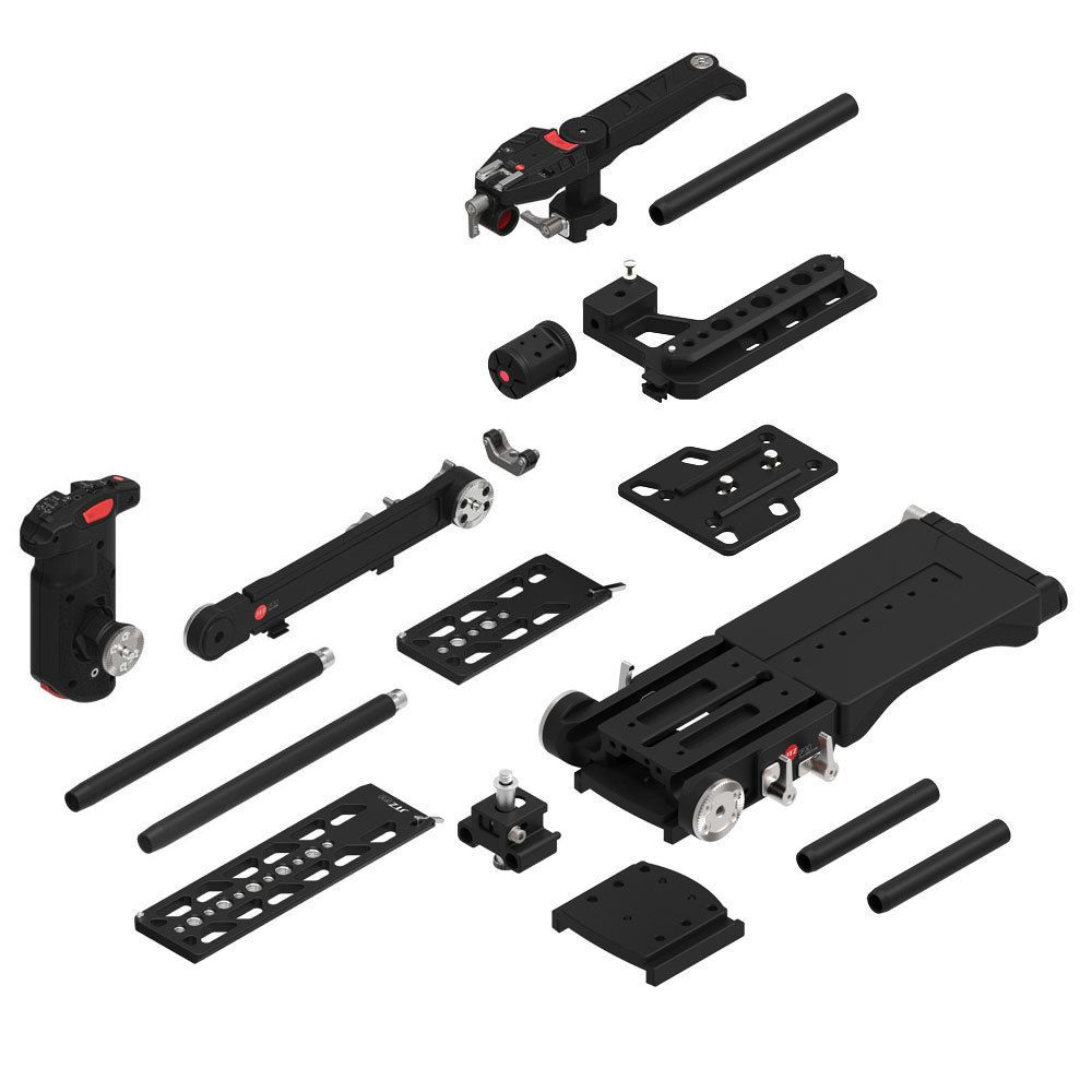 JTZ DP30 15mm rail base plate + hand grip+shoulder supoort rig for Blackmagic URSA mini 4K 4.6K EF PL cinema with JTZlink Hub
