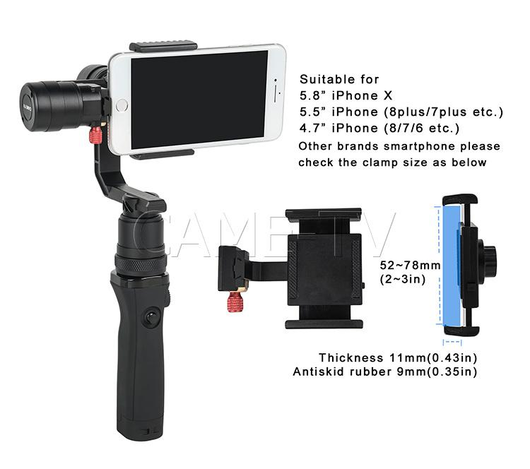 CAME-TV SPRY 4 In 1 Gimbal With Detachable Head for smart phone, GoPro, and point-and-shoot cameras (sony RX100)